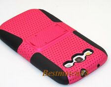 for Samsung galaxy s3 hard soft case skin hot pink kickstand 2 layer S III