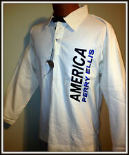PERRY ELLIS AMERICA LONG SLEEVE POLO SHIRT YOUTH LARGE 16-18 NEW WITH TAGS