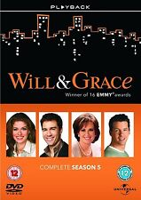 Will and Grace Complete Season 5 DVD Series Brand New & Sealed UK Original R2