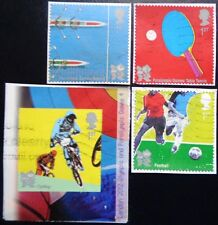 GB 2010 Olympic & Paralympic Games II Used Set of 4 Self Adhesives
