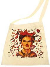 Frida Kahlo Market Cotton Tote Bag Printed Handbag Fair Trade Peru Sack Pouch