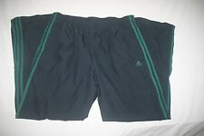 Adidas Wind Rain Track Athletic Pant Lined Men L Navy Green NEW