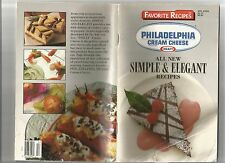 KRAFT Philadelphia Cream Cheese Favorite Recipes All New Simple & Elegant ©1990