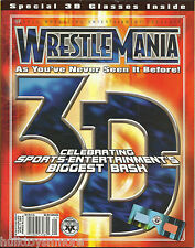 WWE Wrestling Magazine 3D History of Wrestlemania 1-19 w/Glasses Included