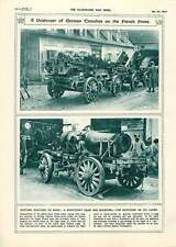 1917 Howitzer's Gear Mounting Lorry Railroads Evolution Tracks Illustration
