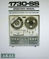 AKAI 1730-SS STEREO TAPE RECORDER OPERATOR'S MANUAL INC SCHEM DIAG PRINTED ENG