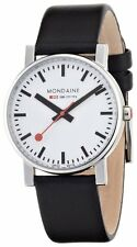 Mondaine White Dial Stainless Steel Leather Quartz Men's Watch A6283000811SBO