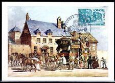 FRANCE FDC - 1973 05 JOURNEE DU TIMBRE - 1749 - LYON - sur CARTE POSTALE