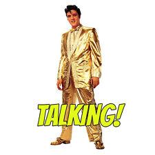 ELVIS PRESLEY Gold Lame Suit TALKING CARDBOARD CUTOUT Standup Standee Poster