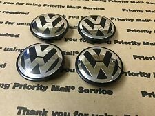NEW VOLKSWAGEN VW SET OF 4 CENTER WHEEL WHEELS RIM RIMS CAP CAPS 65MM BLACK