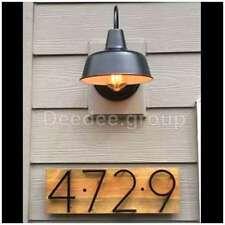 Outdoor Lamp Barn Light Fixture Vintage Gooseneck Wall Mount Shade Doorway Porch