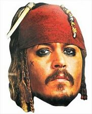 Captain Jack Sparrow Official Disney Single Fun CARD Party Face Mask