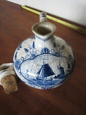 ERVEN LUCAS BOLS BLUE DELFT PITCHER & STOPPER ANNO 1575 HOLLAND WINDMILL SCENE