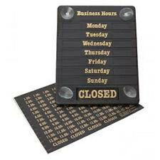 HOURS OF BUSINESS OPEN / CLOSED SHOP SIGN NOTICE sent 1st class