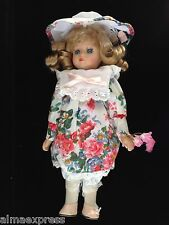 """NIB HandCrafted Porcelain Doll by Wyndham Lane Collection """"Rebecca"""" NOS COA"""