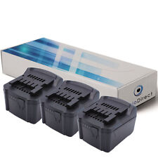 Lot de 3 batteries 14.4V 3000mAh pour Metabo SSW 14.4 LT 6.02126.50