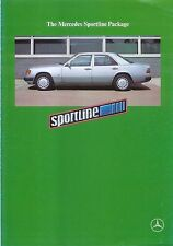 Mercedes Benz Sportline Package 190 & W124 1990-91 Original UK Sales Brochure