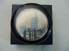 Claude Monet Thames Below Westminster Abbey Glass Paperweight National Gallery