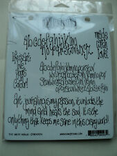 RANGER DYLUSIONS BY DYLAN REVEALEY CLING STAMPS THE WRITE WORDS NEW! *LOOK*