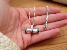 Designer Sterling Silver Ball Chain Necklace And Spinning Spinel Pendant BNWOT