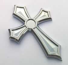 Christian Cross Jesus Cross car auto bike chrome emblem decal 3D sticker.