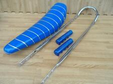 """20"""" BLUE SPARKLE Lowrider Krate Bicycle BANANA SEAT SISSY BAR Grips Included"""