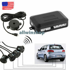 Car Auto 4 Parking Backup Sensors Kit LED Display Reverse Radar Sound System AW