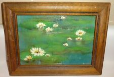 Texas Artist BETTY WINN (CAMPBELL) Lily Pads Painting