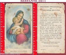 3614 SANTINO HOLY CARD MADONNA DELLE GRAZIE ED G MI ED. G MI 142 BASSA CONSERVA.