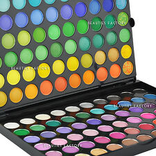 Beauties Factory 120 Color Eye Shadow Palette + Luvvie Eyeshadow Brush AZ89