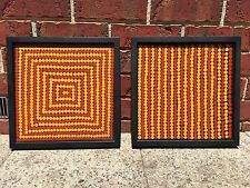 TURKEY TOLSON TJUPURRULA PAIR OF ORIGINAL PAINTINGS from PAPUNYA TULA circa 1978