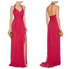 MARCHESA NOTTE Draped Chiffon Halter Neck Gown Size 8(6ave), Brand NEW $1005