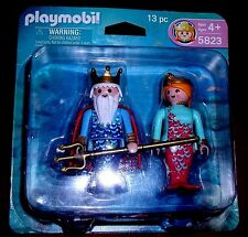 PLAYMOBIL VINTAGE 5823 KING NEPTUNE MERMAID MIB DUO PACK SPECIAL EDITION HTF