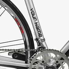 """TWO 1/2"""" CUSTOM TEXT BIKE FRAME/FORK DECAL STICKERS"""