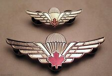 Canada Army Airborne Basic Parachutist Qualified Jumper Wings badges Lot Set