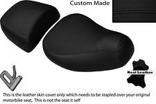 BLACK STITCH CUSTOM FITS PIAGGIO VESPA LXV 125 150 FRONT REAR SEAT COVERS