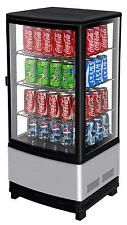 TURBO AIR 3 CU.FT COUNTERTOP GLASS BEVERAGE DISPLAY MERCHANDISER CRT-77-1R