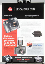 RARE LEICA BULLETIN 8pages publication booklet No53 Winter 2001/02 R8,SF20,M6TTL