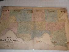 antique 1884 Geo Moessinger & Fred Bertsch Map of Hamilton County Cincinnati Ohi