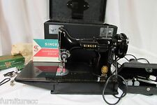 Singer Featherweight Sew Machine 221K With Case & Accessories With Free Shipping