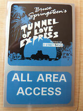 BRUCE SPRINGSTEEN Laminated Backstage Tour Pass - TUNNEL OF LOVE EXPRESS