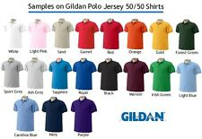 12 Custom Embroidered * FREE LOGO Dry Blend POLO SHIRTS Embroidery