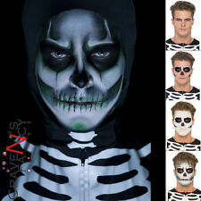 Skeleton Face Paint Make Up Kit Glow in the Dark Halloween Fancy Dress Makeup