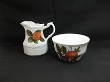 J&G Meakin Sterling Orange Grove Pattern - Creamer Jug and Sugar Bowl