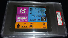 JUNE 20TH 1970 WORLD CUP WEST GERMANY VS URUGUAY 3RD PLACE MATCH TICKET PSA