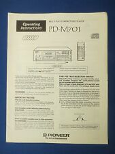 PIONEER PD-M701 OWNER MANUAL ORIGINAL FACTORY ISSUE THE REAL THING