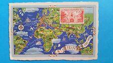 FRANCE CARTE MAXIMUM YVERT 453 FRANCE OUTRE MER CARTE 1F + 25C PARIS 1940 L 338