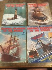 VINTAGE SHIPPING WONDERS OF THE WORLD MAGAZINE LOT 1930s SHIP SHIPS SEA NAVY