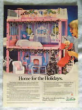 1985 Magazine Advertisement Ad Page Barbie Glamour Home Doll House Playhouse