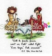 New Stamping Bella Cling Rubber Stamp Uptown Girls Paige & Peggy Pour Some Tea